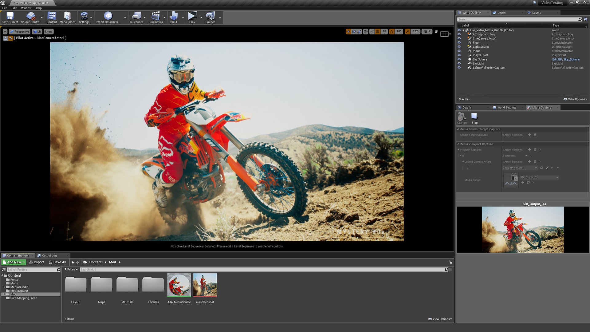 AJA Media Player by Epic Games in Code Plugins - UE4 Marketplace