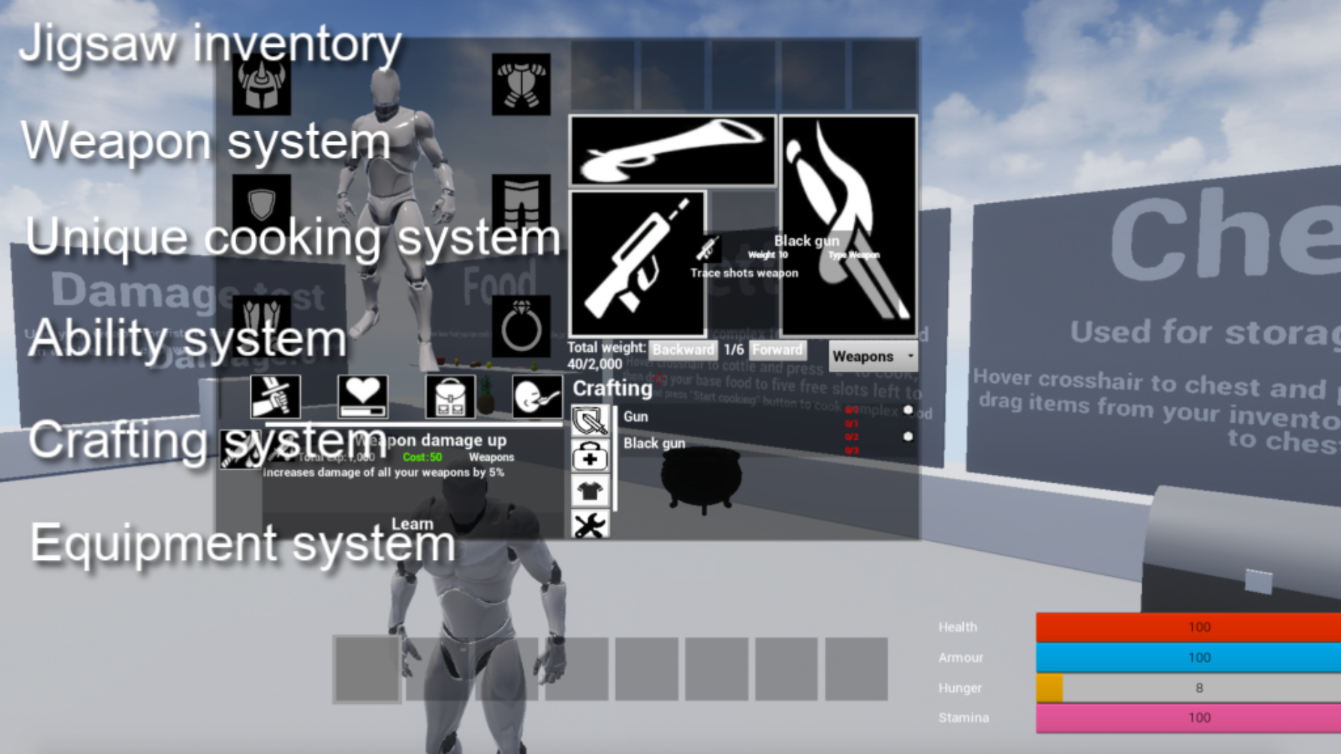 Survival game pack by Wuitter in Blueprints - UE4 Marketplace