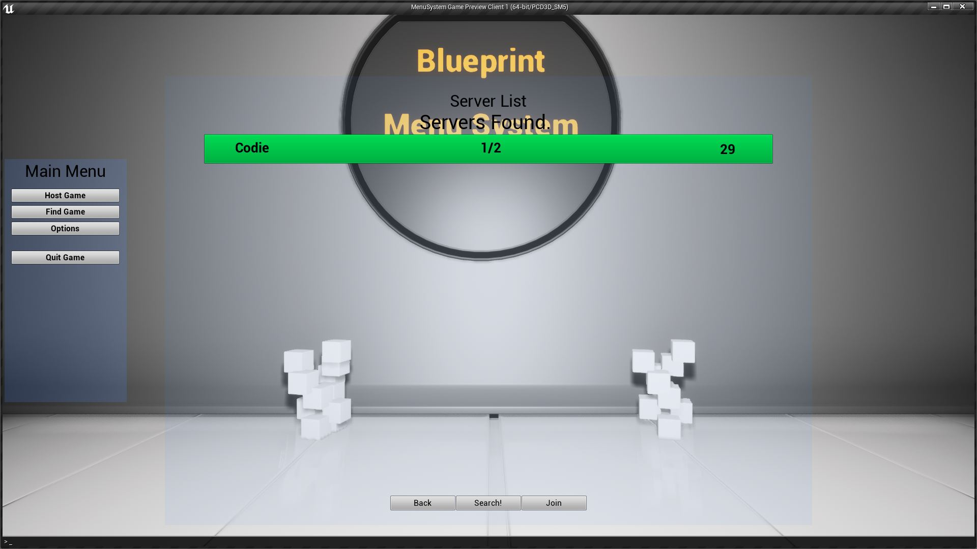 Blueprint menu system by codie in blueprints ue4 marketplace share malvernweather Choice Image