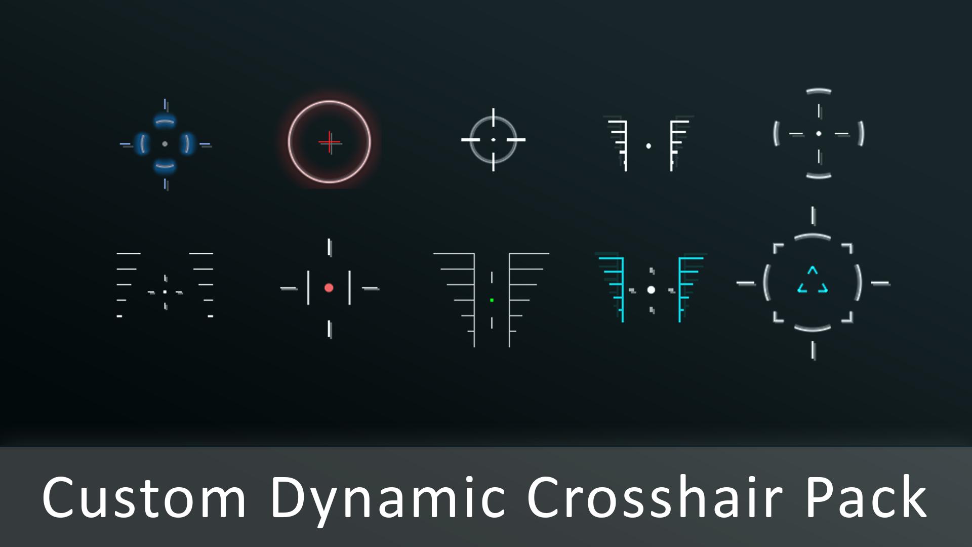 Custom Dynamic Crosshair Pack by IUMTEC in Materials - UE4