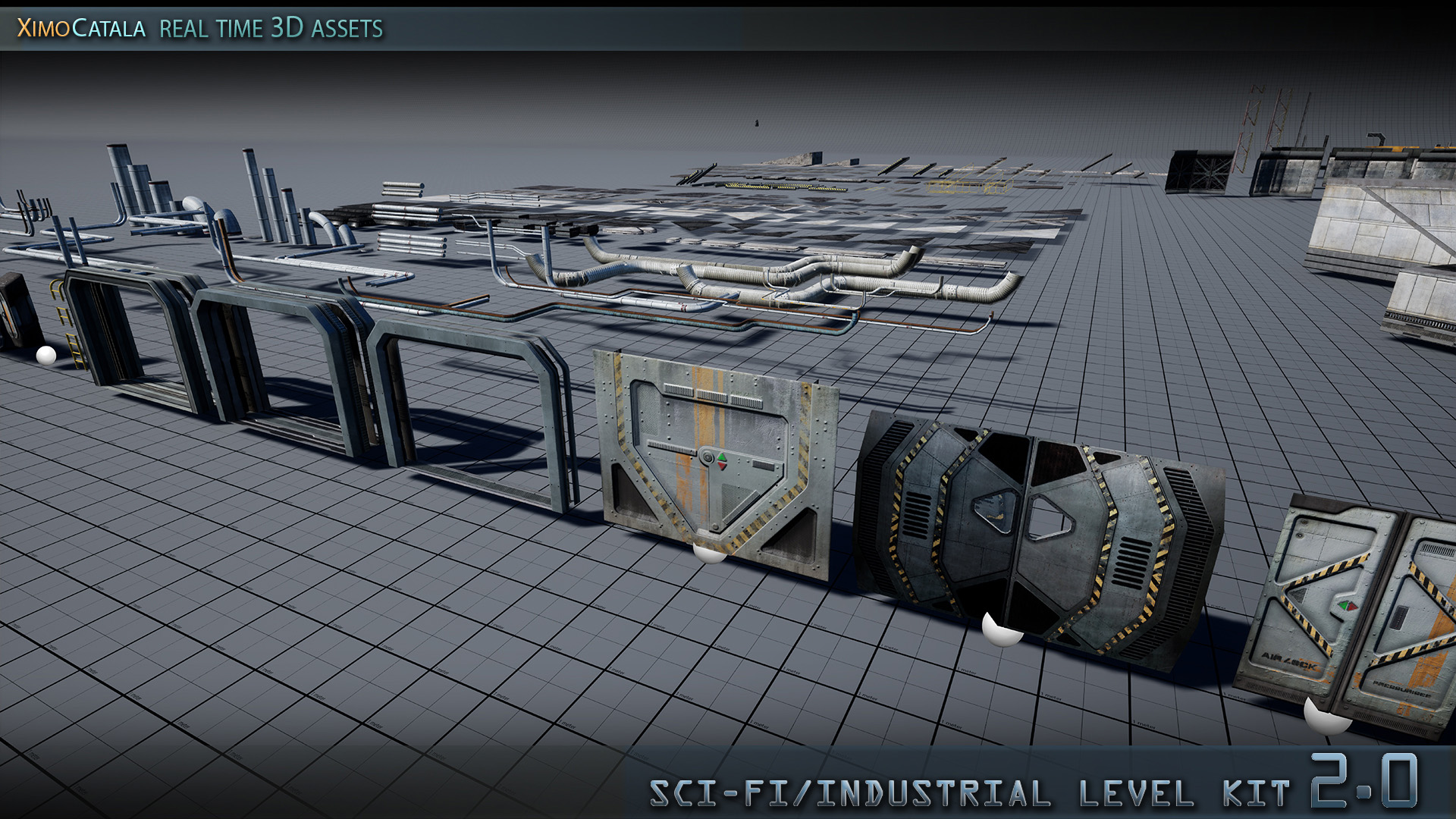 SciFi/Industrial Level Kit 2 0 by Ximo Catala in