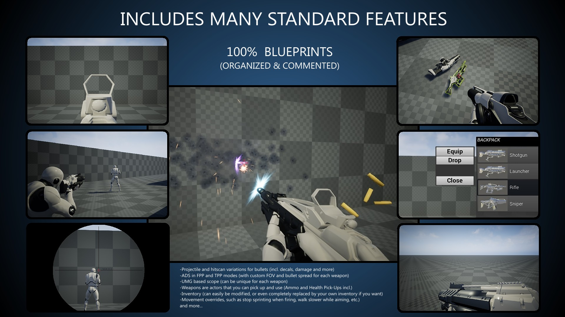 FPS Game Starter Kit by SB in Blueprints - UE4 Marketplace