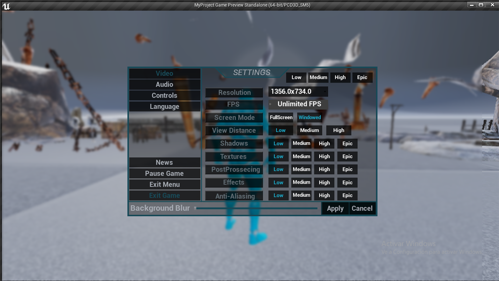Main Menu: Video/Audio Settings & More! by MarcosMoretto in