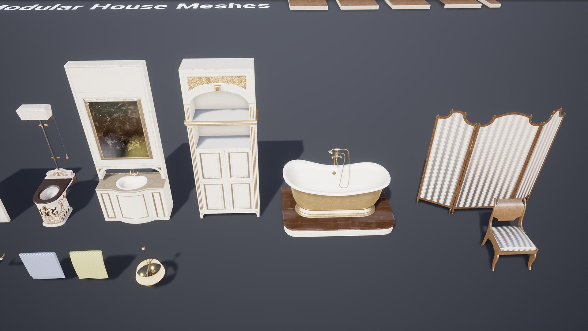 Vintage Bathroom by Mikhail Kadilnikov in Props - UE4