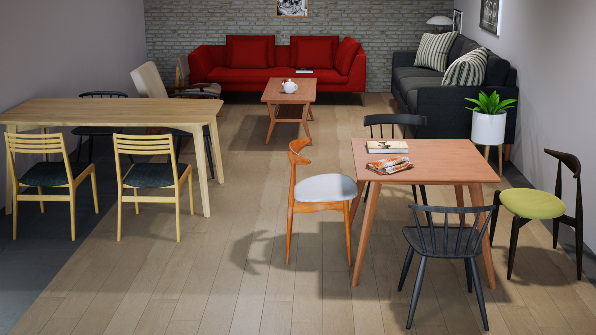 Mid-Century furniture pack by ArchViz Pro in Architectural ...