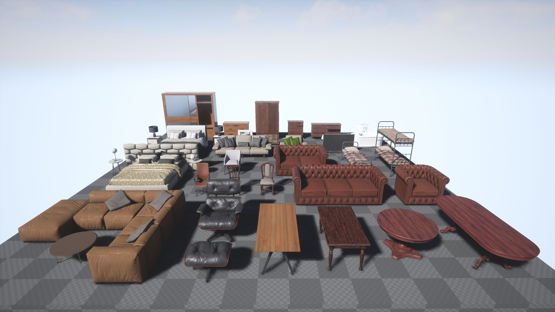 Free Furniture Pack by Next Level 3D in Props - UE4 Marketplace