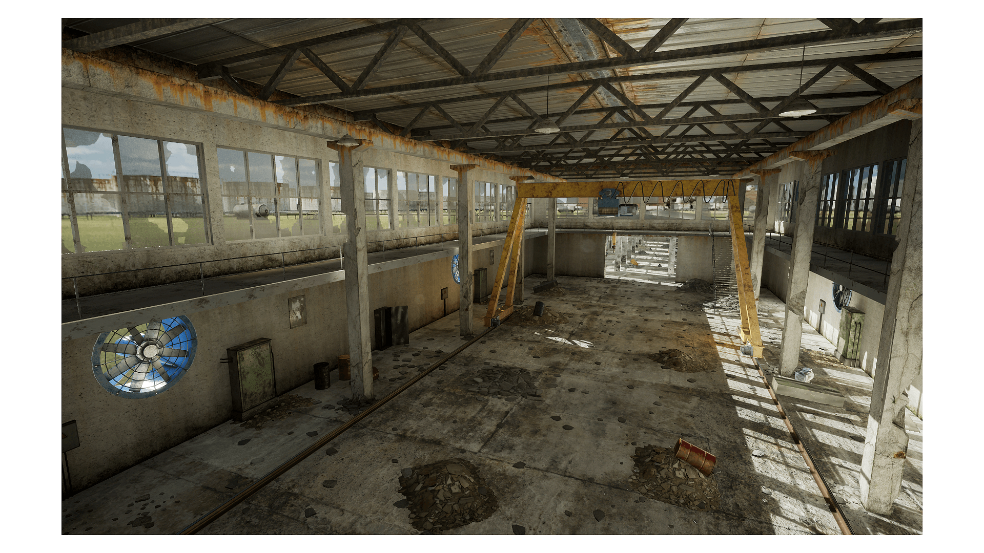 Abandoned Factory by Tirgames Assets in Environments - UE4 ...