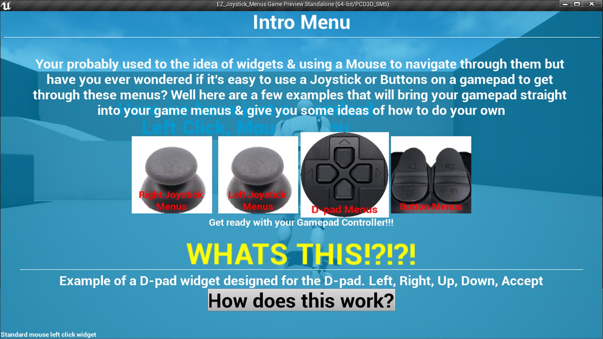 EZ_Joystick_Menus by BenReid in Blueprints - UE4 Marketplace