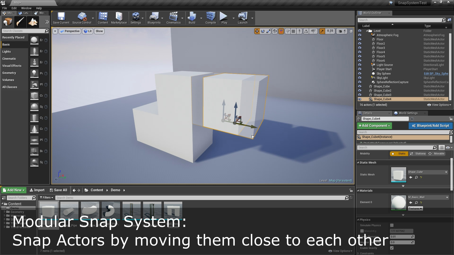 Modular Snap System by Inu Games in Code Plugins - UE4 Marketplace