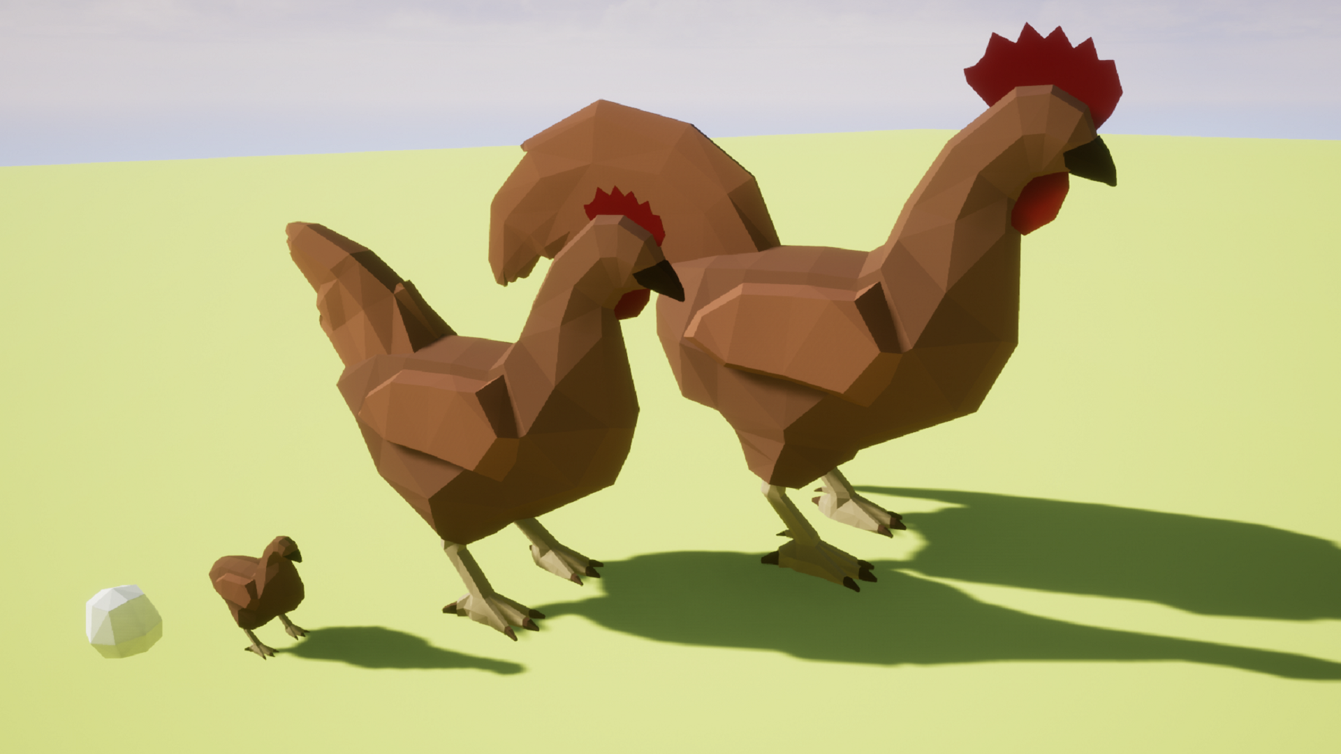 Low Poly Chickens by BryanO Art in Characters - UE4 Marketplace