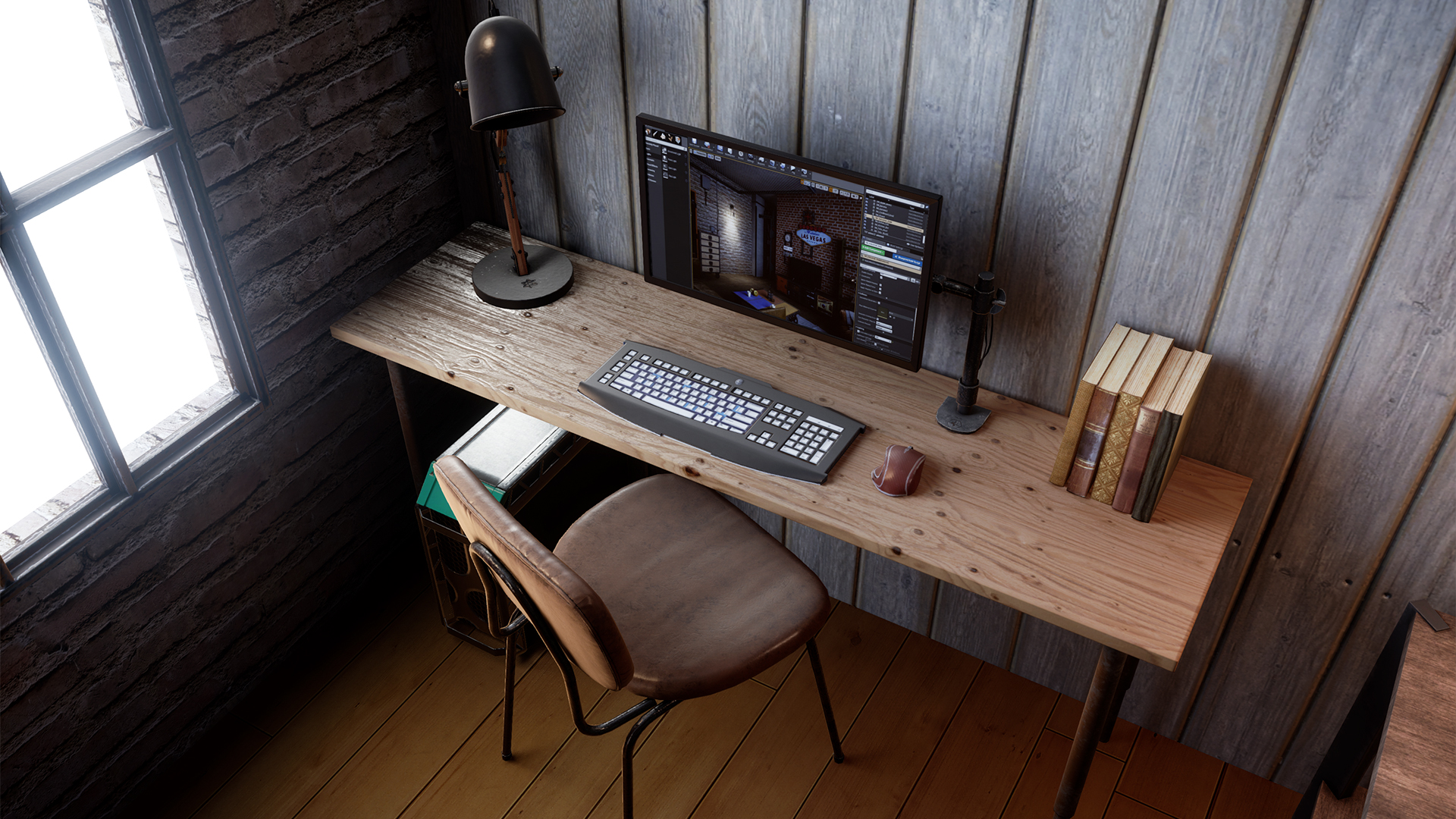 Industrial loft furniture pack by archviz pro in architectural visualization ue4 marketplace