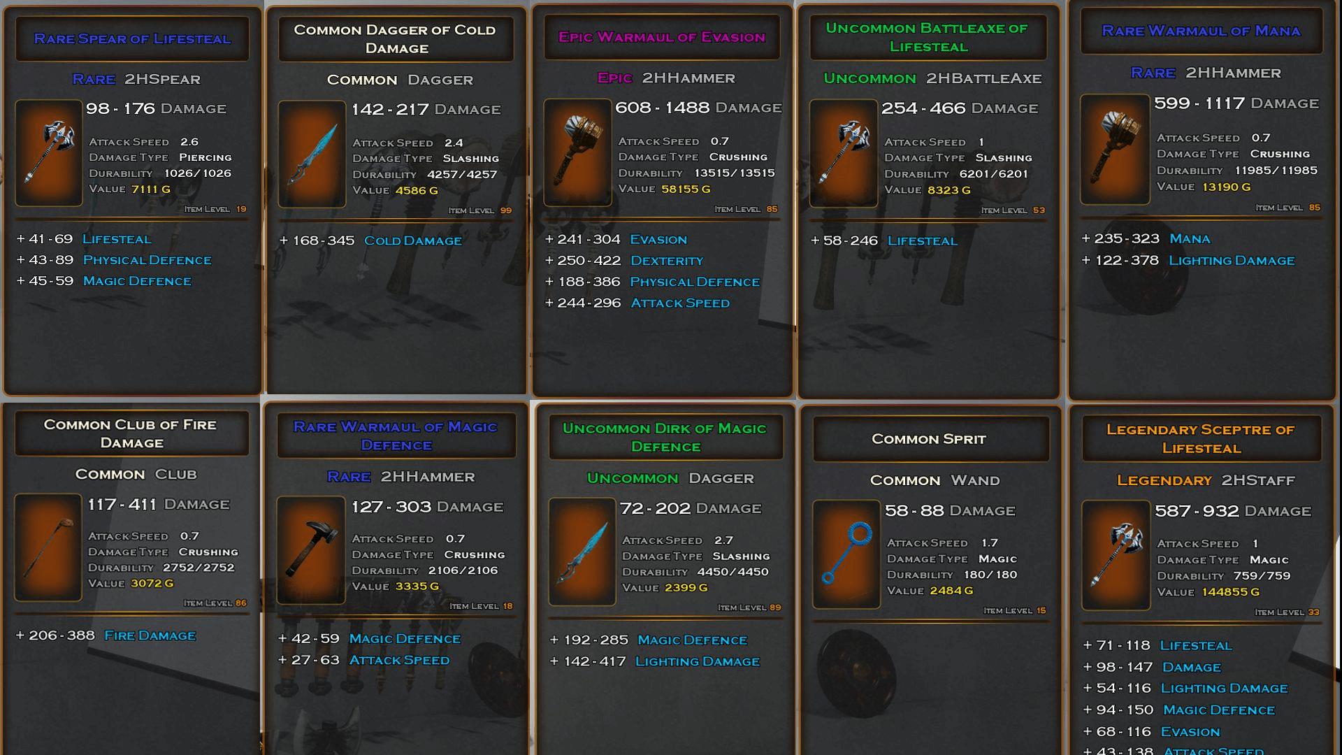 item generator