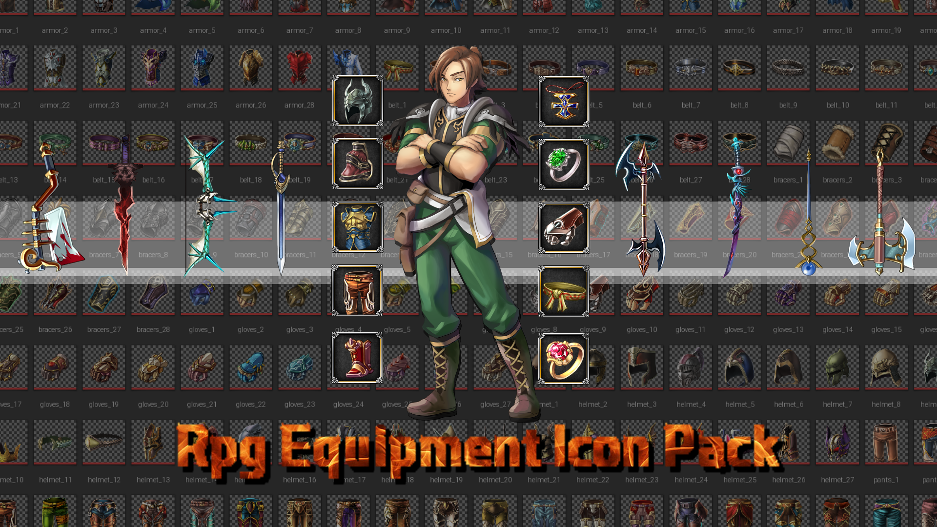 RPG Equipment Icon Pack by FilterGame in 2D Assets - UE4 Marketplace