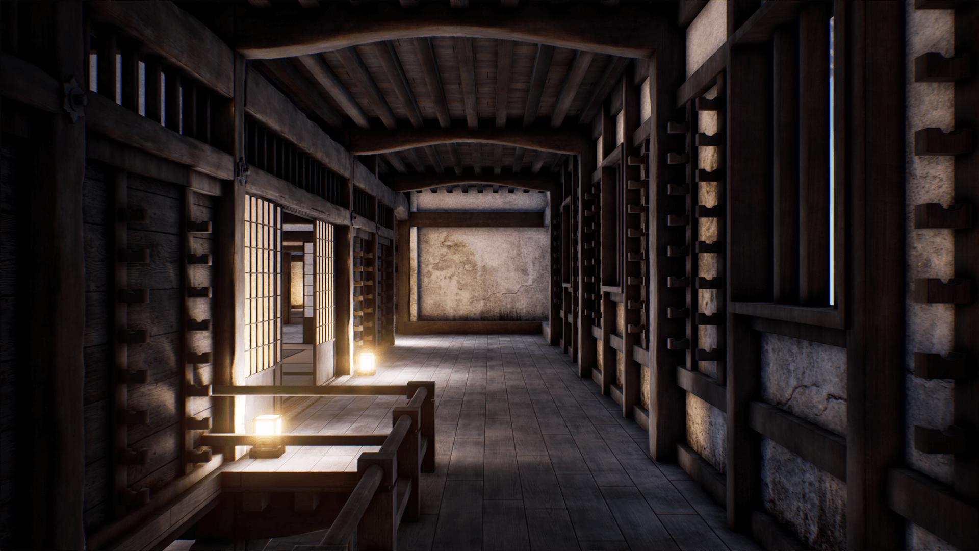 Japanese Modular Castle By Jemini Studio In Props Ue4