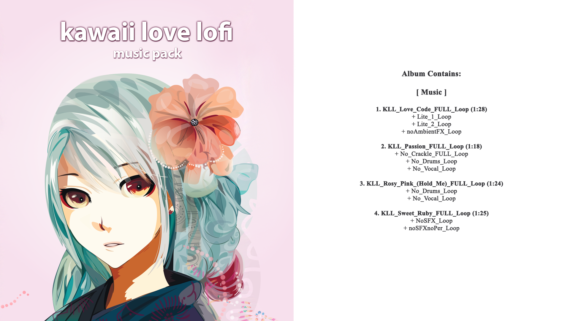 Kawaii Love Lofi Music Pack by W O W Sound in Music - UE4