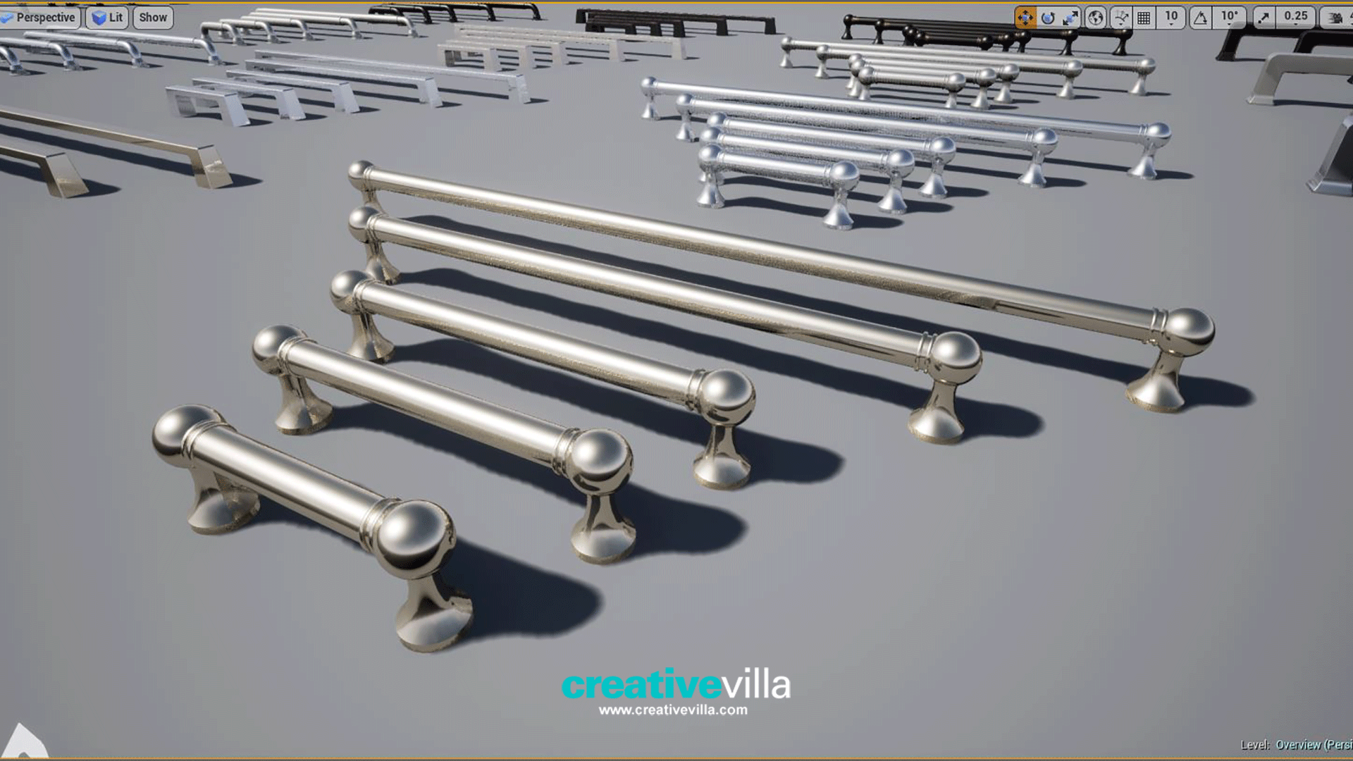 Kitchen and Bath Pull Handles for Arch Vis by CreativeVilla in ...