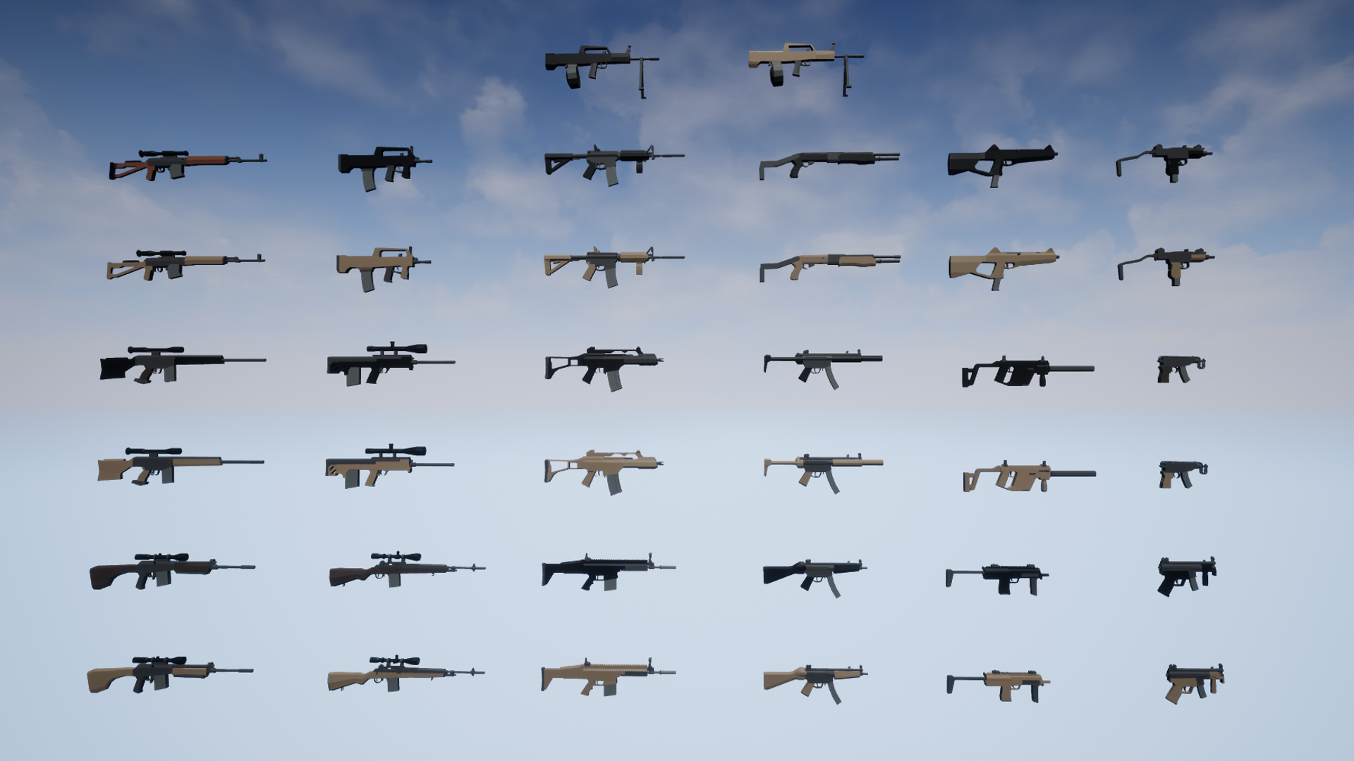 Low Poly Weapons Arsenal by Monster Tooth Studios in Props
