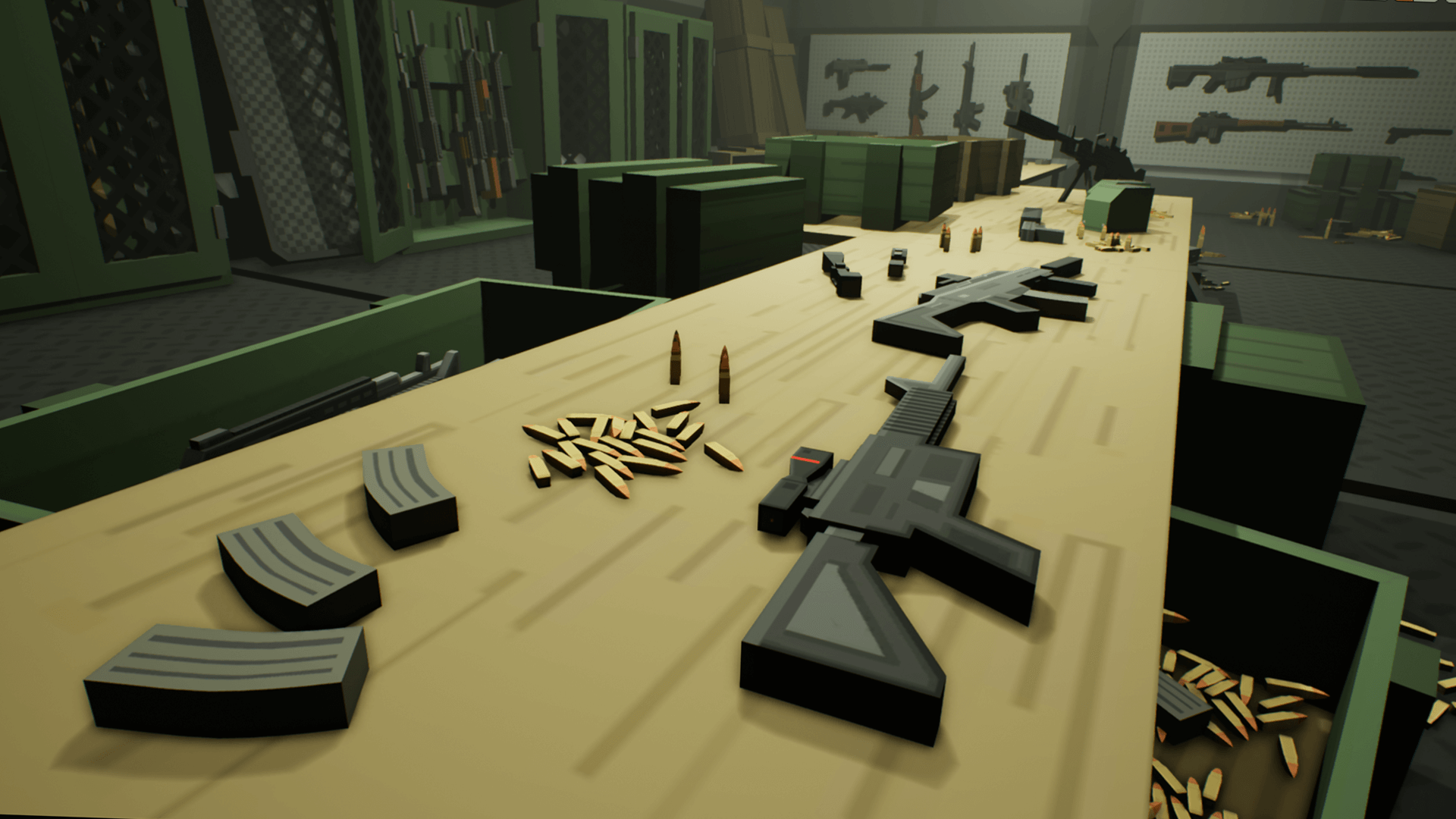 Third Low Poly Art Pubg: Low Poly Weapons Armory By Nocturnal Arts In Environments