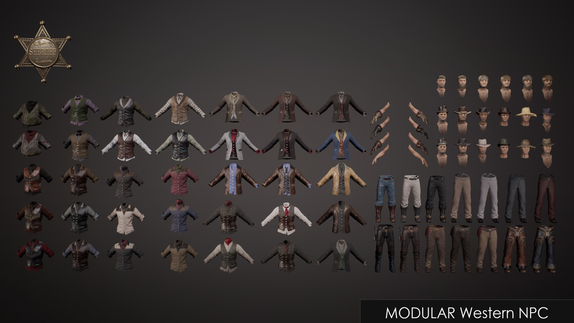 Western NPC by polyphoria in Characters - UE4 Marketplace