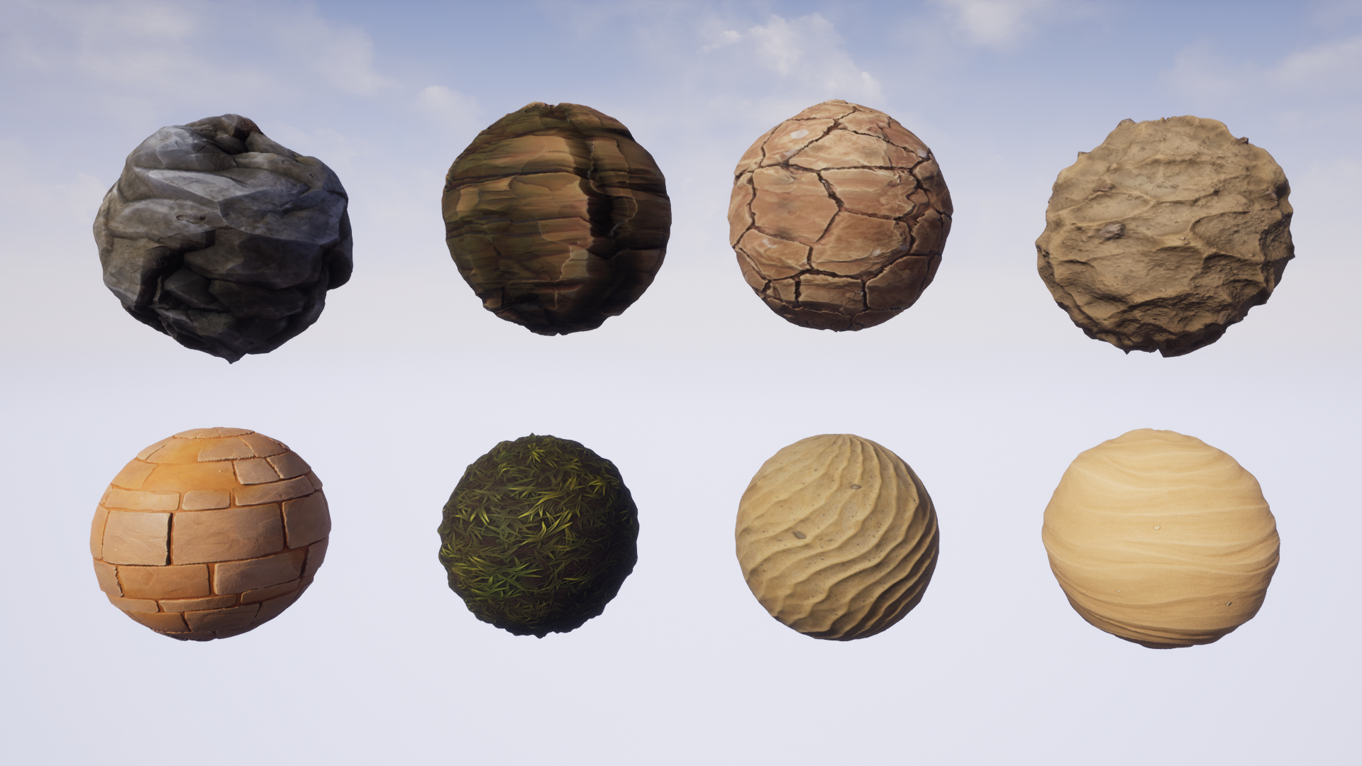 Stylized Desert Materials by ClayMan in Materials - UE4