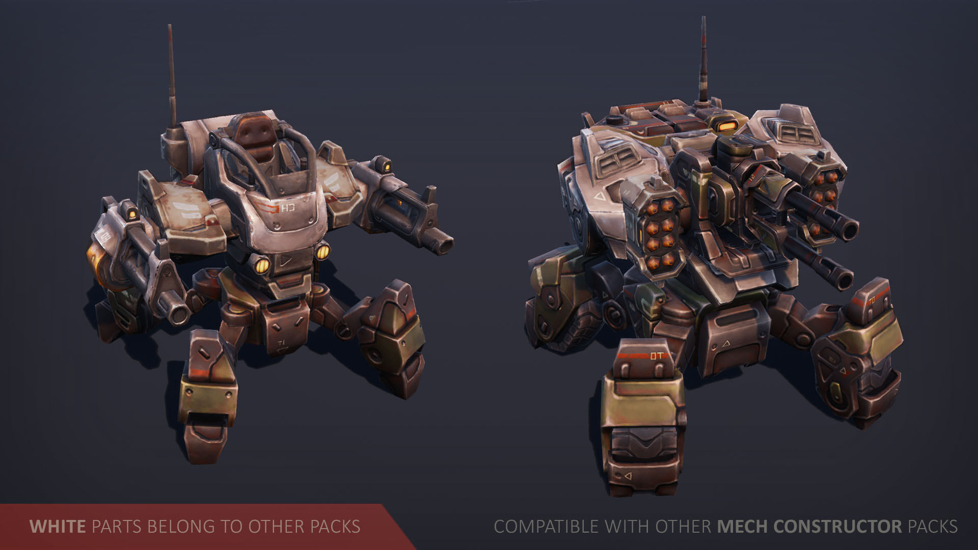 Mech Constructor - Spiders and Tanks by Slava Z  in