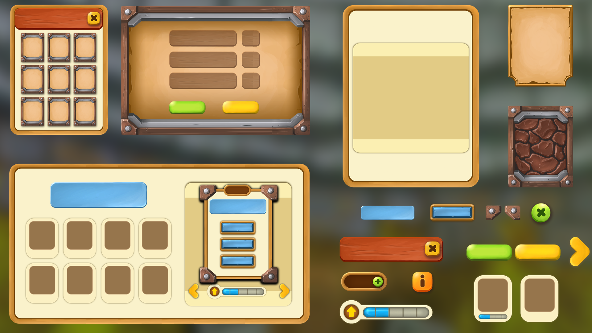 Mobile Game UI by REXARD in 2D Assets - UE4 Marketplace