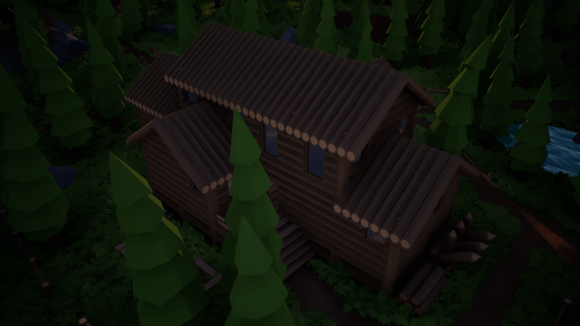 Olbert's Low Poly: Mountain Cabin by Whitman And Olbert in