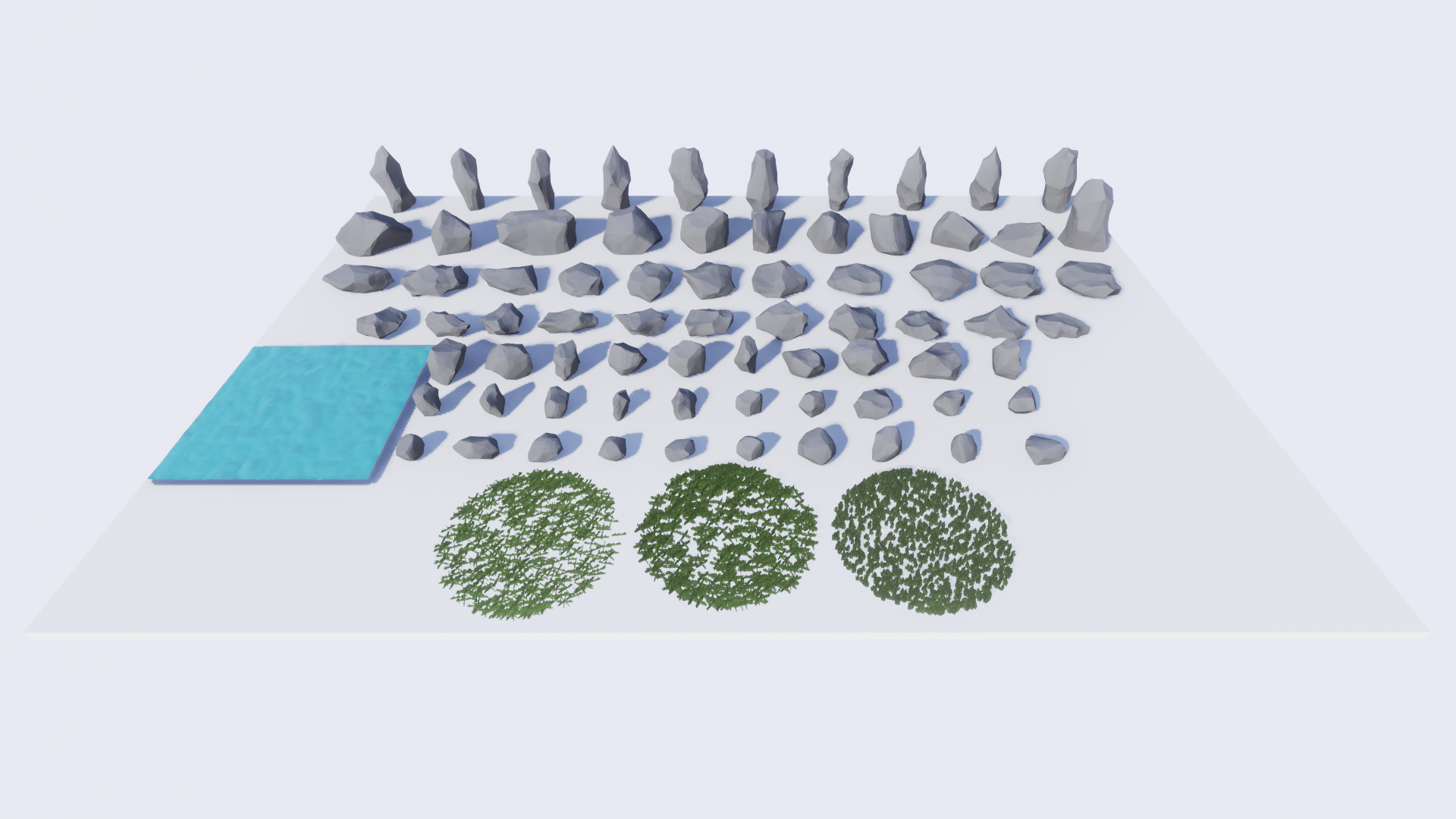 Olbert's Low Poly: Rocks by Whitman And Olbert in