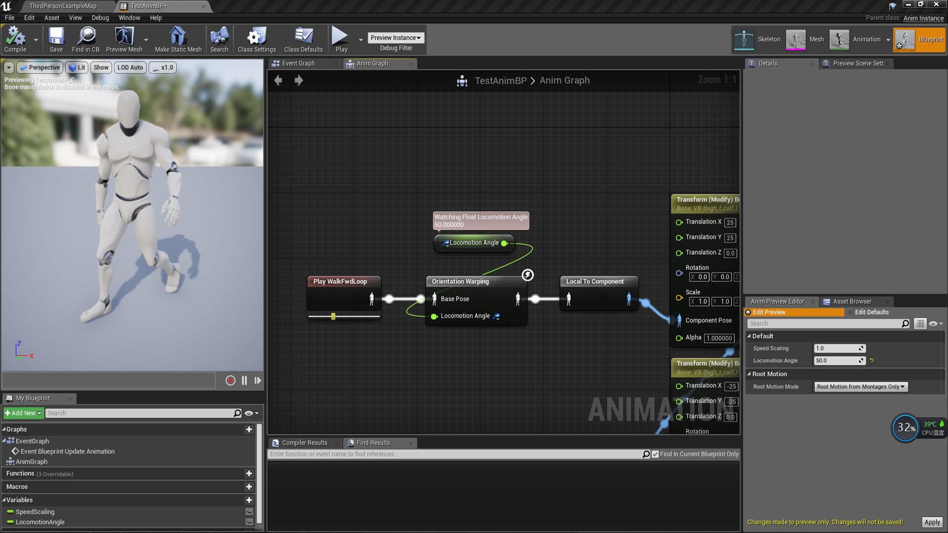 Custom Speed & Orientation Warping by SeanChen in Code