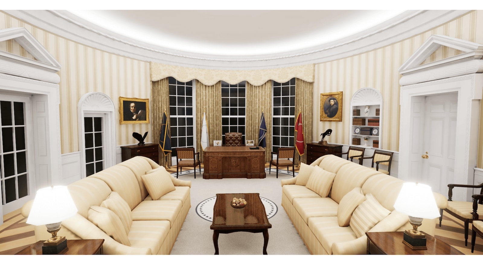 Oval Office in Architectural Visualization - UE Marketplace