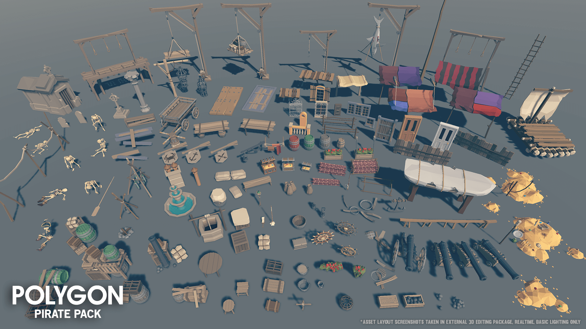 POLYGON - Pirate Pack by Synty Studios in Environments - UE4