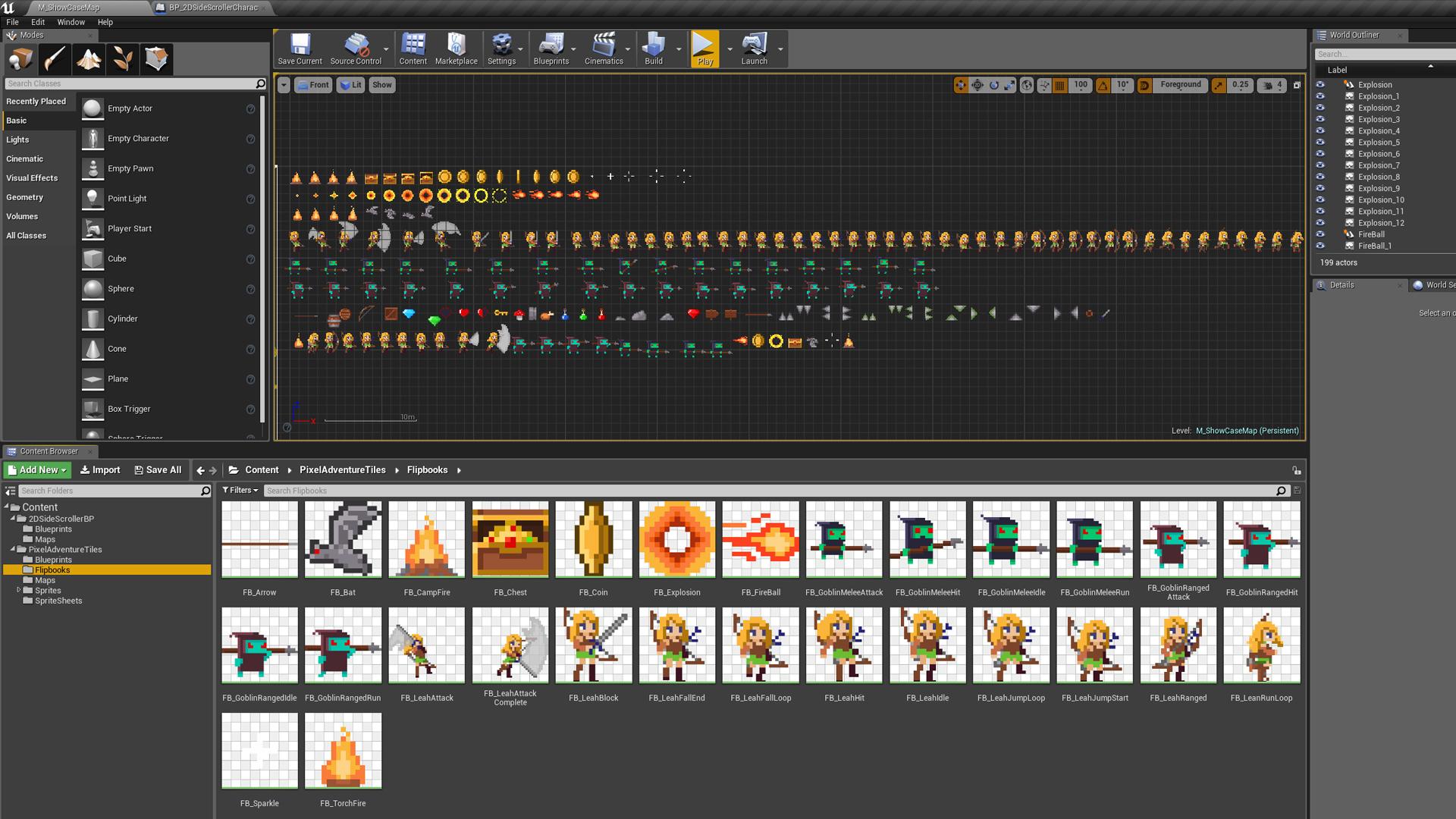 Pixel Platformer Tiles by Polyart Studio in 2D Assets - UE4