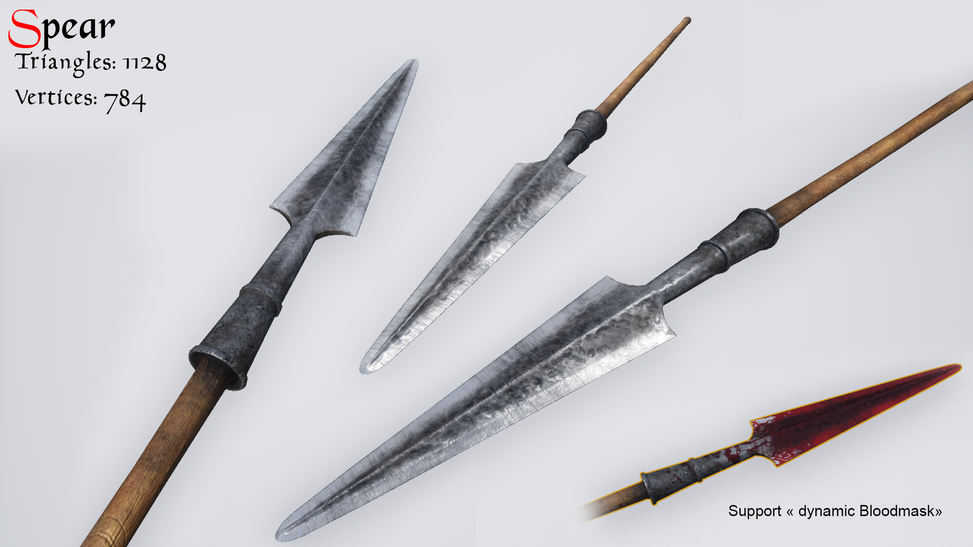 Medieval Two handed weapon (Pole-edition) by MaxVellear in