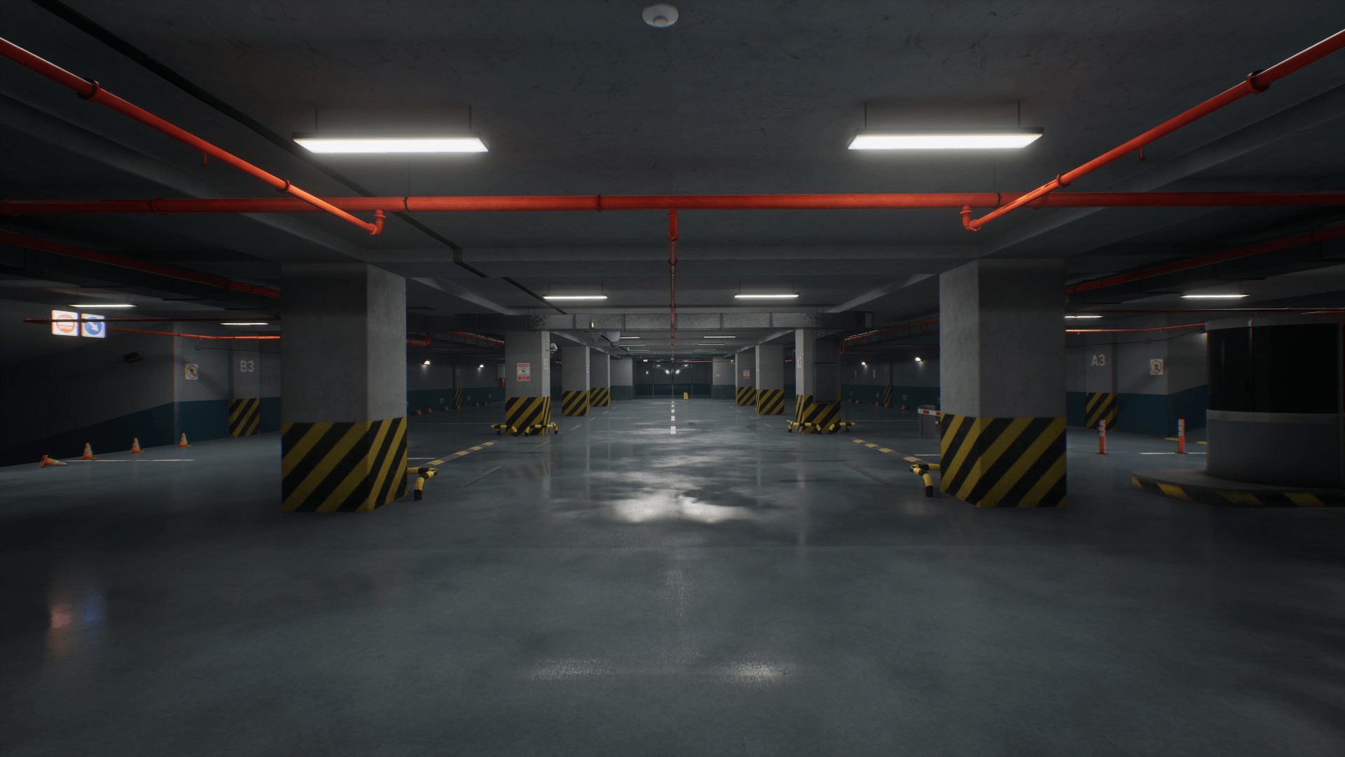 Qa Modular Parking By Qatmo In Environments Ue4 Marketplace