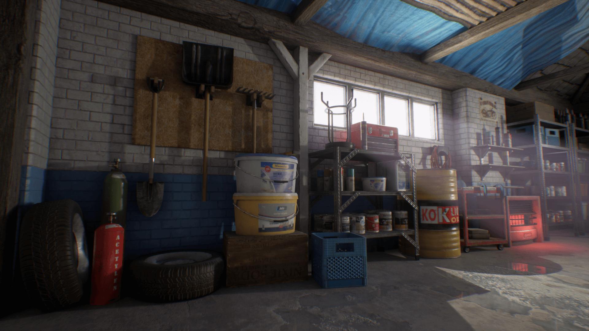 Garage Workshop By Gabro Media In Environments Ue4 Marketplace