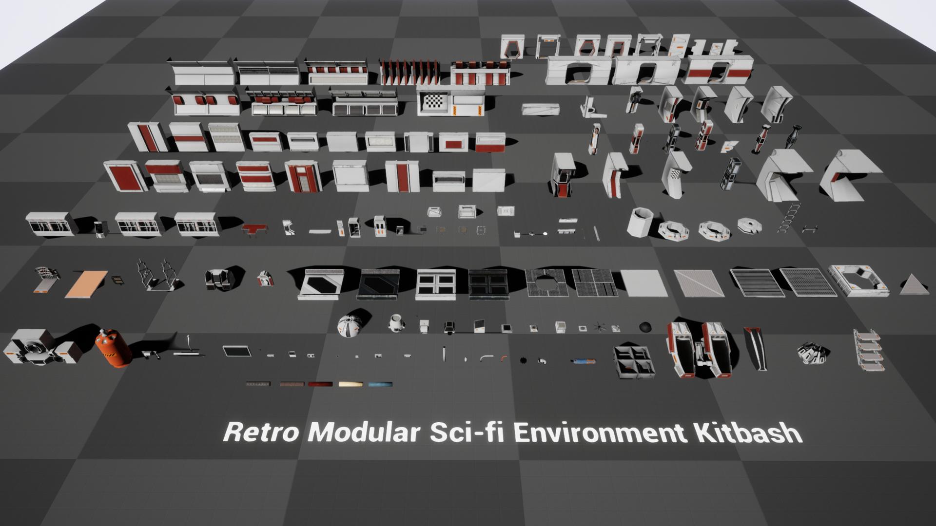 Retro Modular Sci-fi Environment Kit-bash by Shaun T  Williams in