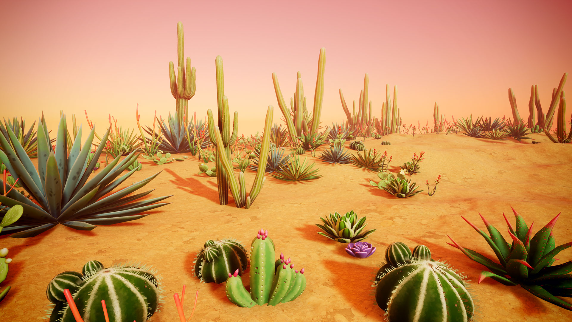 Stylized Desert Plants By Bad Rhino Games In Environments Ue4