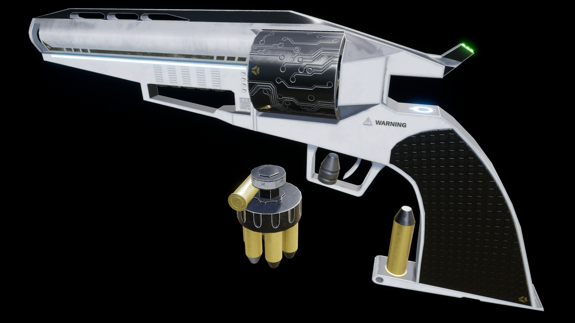 Animated Futuristic Revolver by Indants Studio in Weapons ...