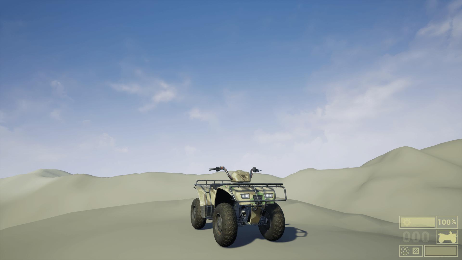 Driveable Vehicle : ATV-Quad Bike by EA3D in Blueprints - UE4