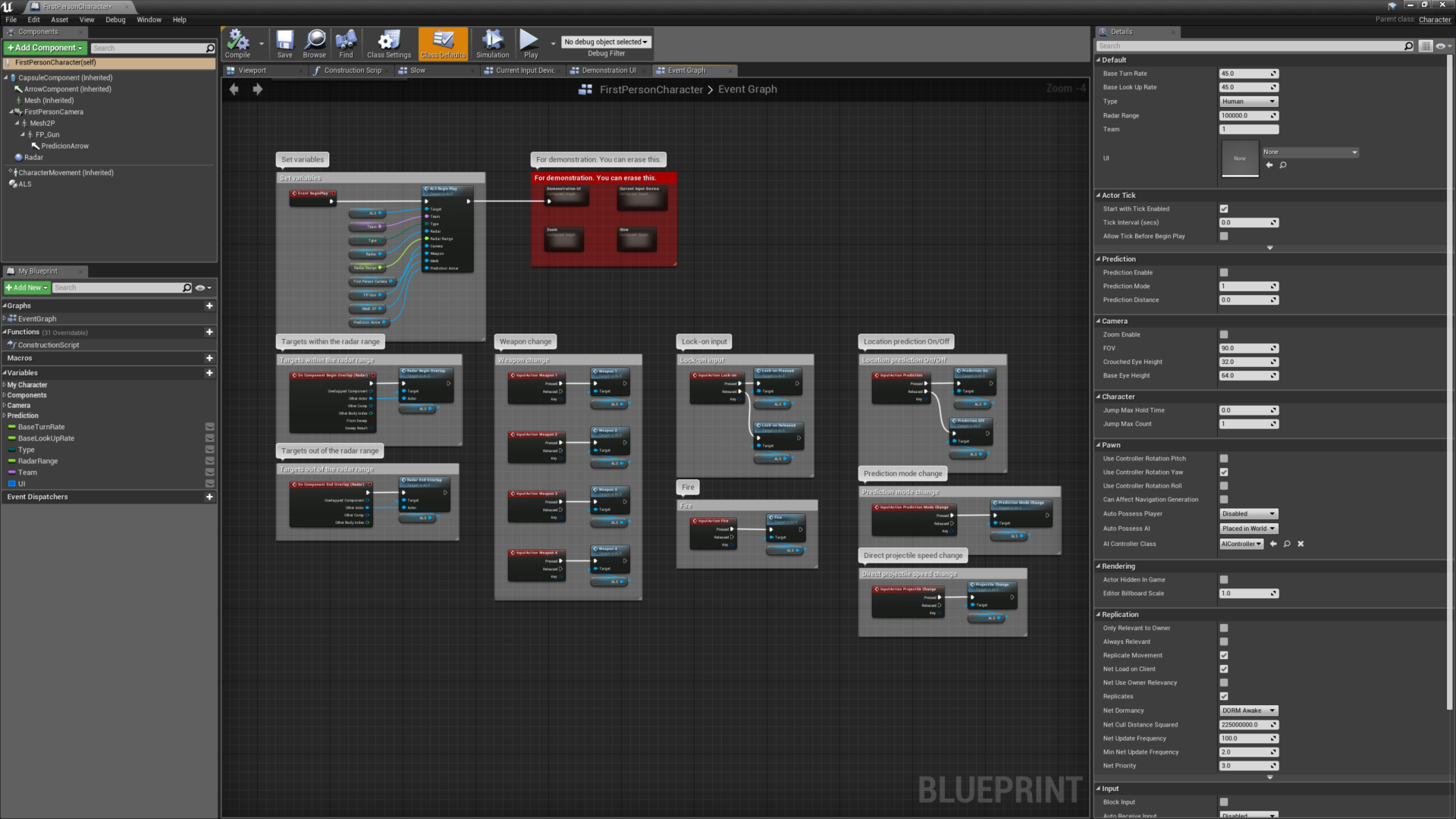 Advanced Lock-on System by D  Jung in Blueprints - UE4 Marketplace