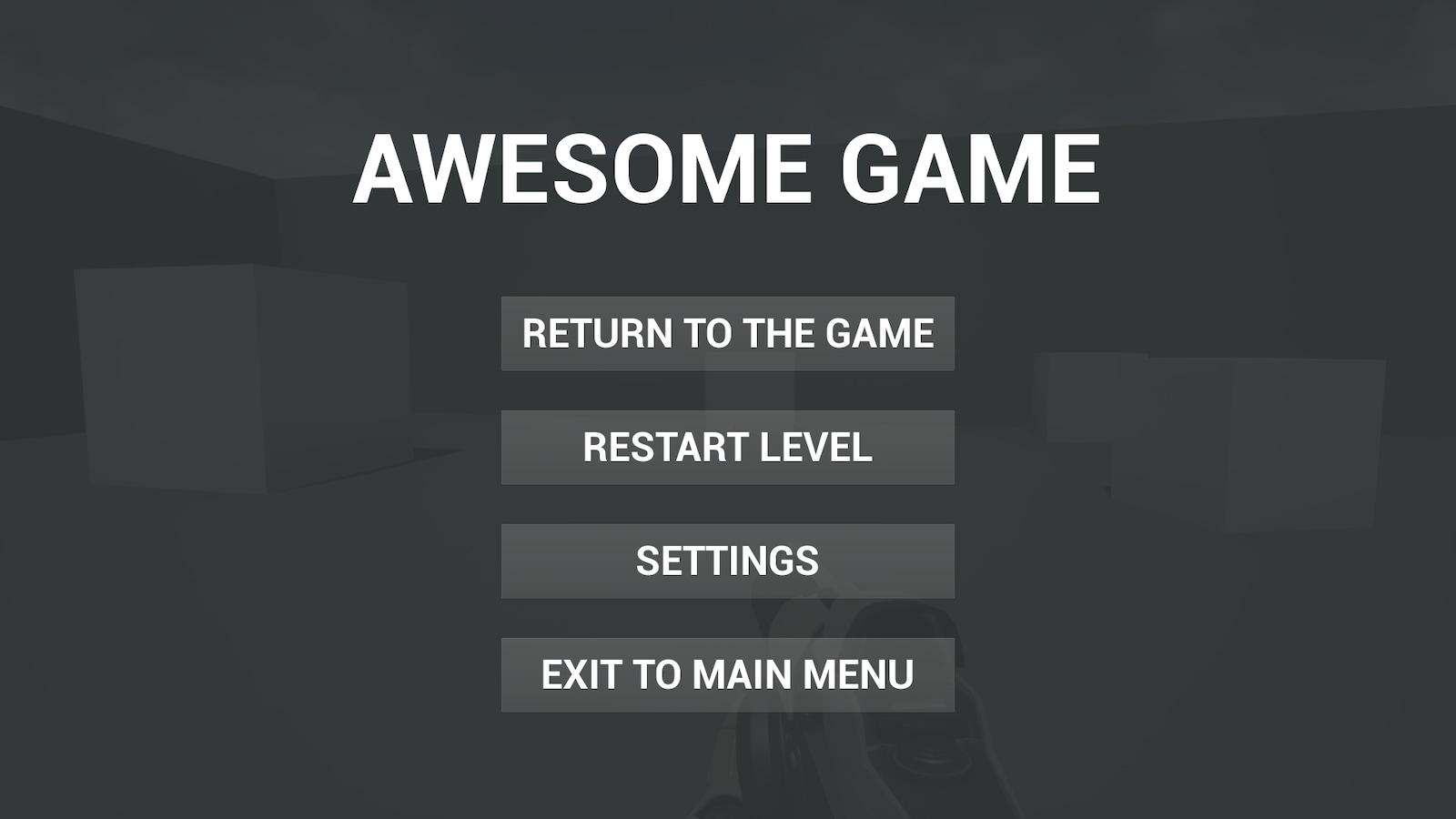 Customizable settings menu (main menu and pause game menu are included) in  Code Plugins - UE Marketplace