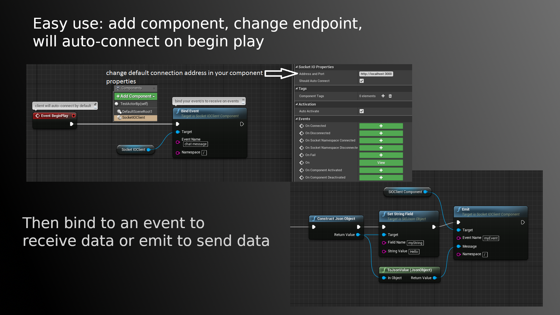 Socket IO Client by Getnamo in Code Plugins - UE4 Marketplace