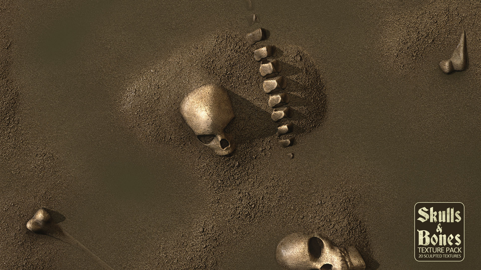 Skulls And Bones Textures by R33K in Materials - UE4 Marketplace