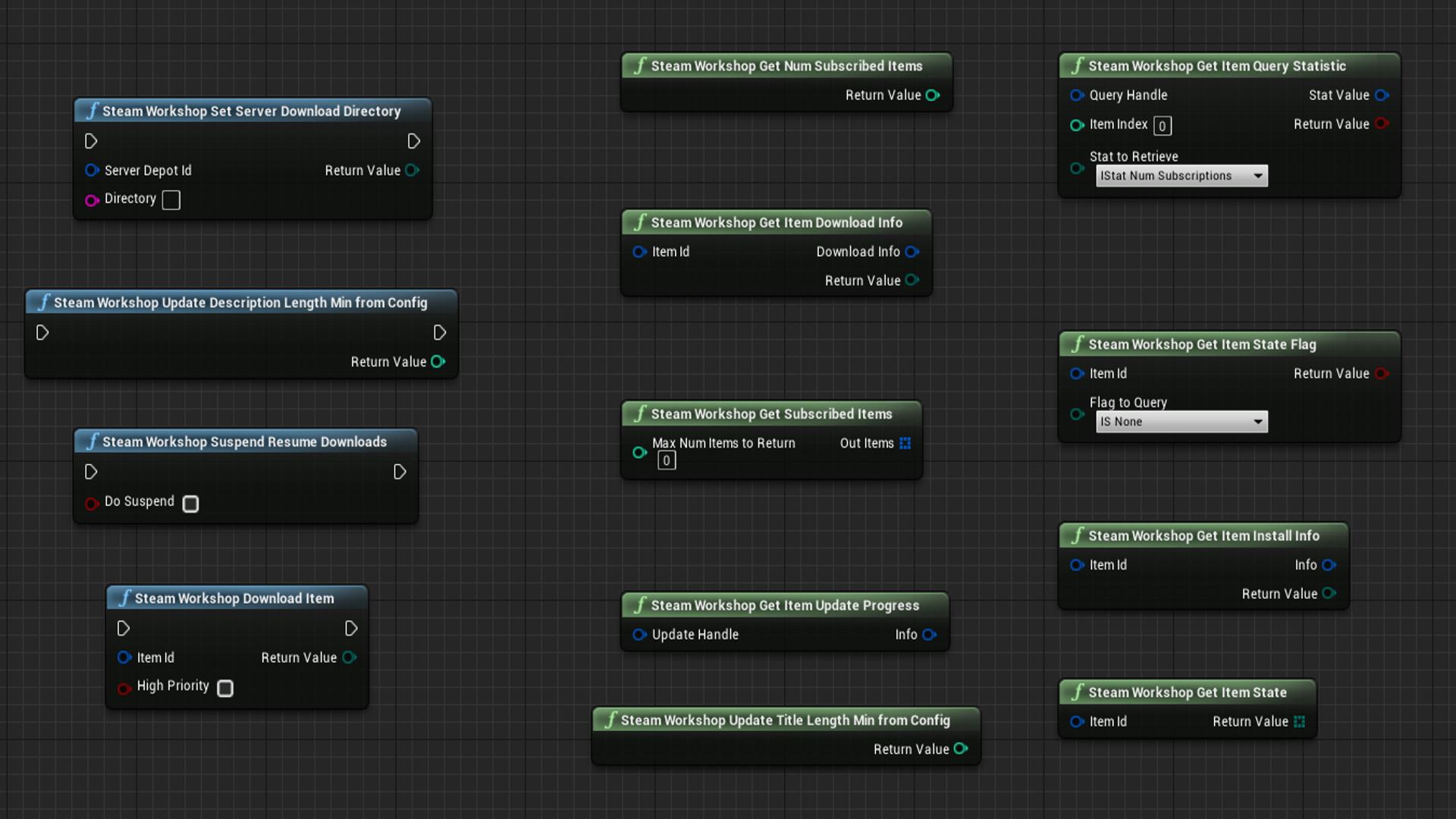 Steam Workshop Accessor by schwarzlichtfabrik in Code Plugins - UE4