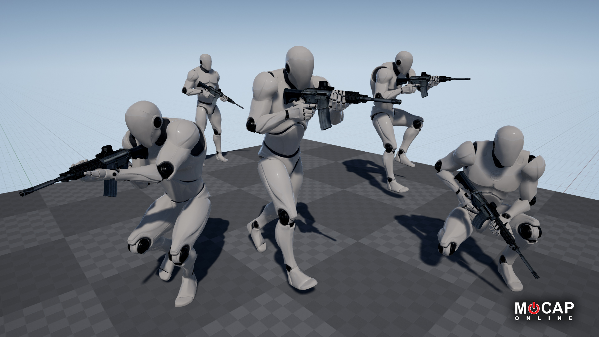 Rifle 01 Starter - Mocap Pack by MoCap Online in Animations