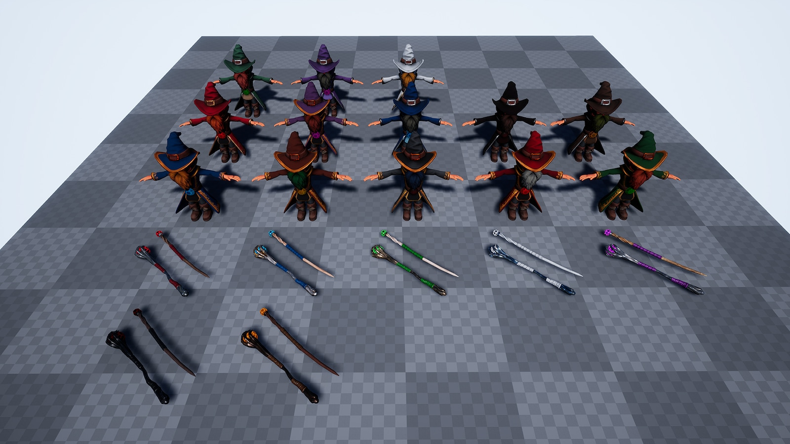Animated Stylized Wizard by Slapunas in Characters - UE4 ...