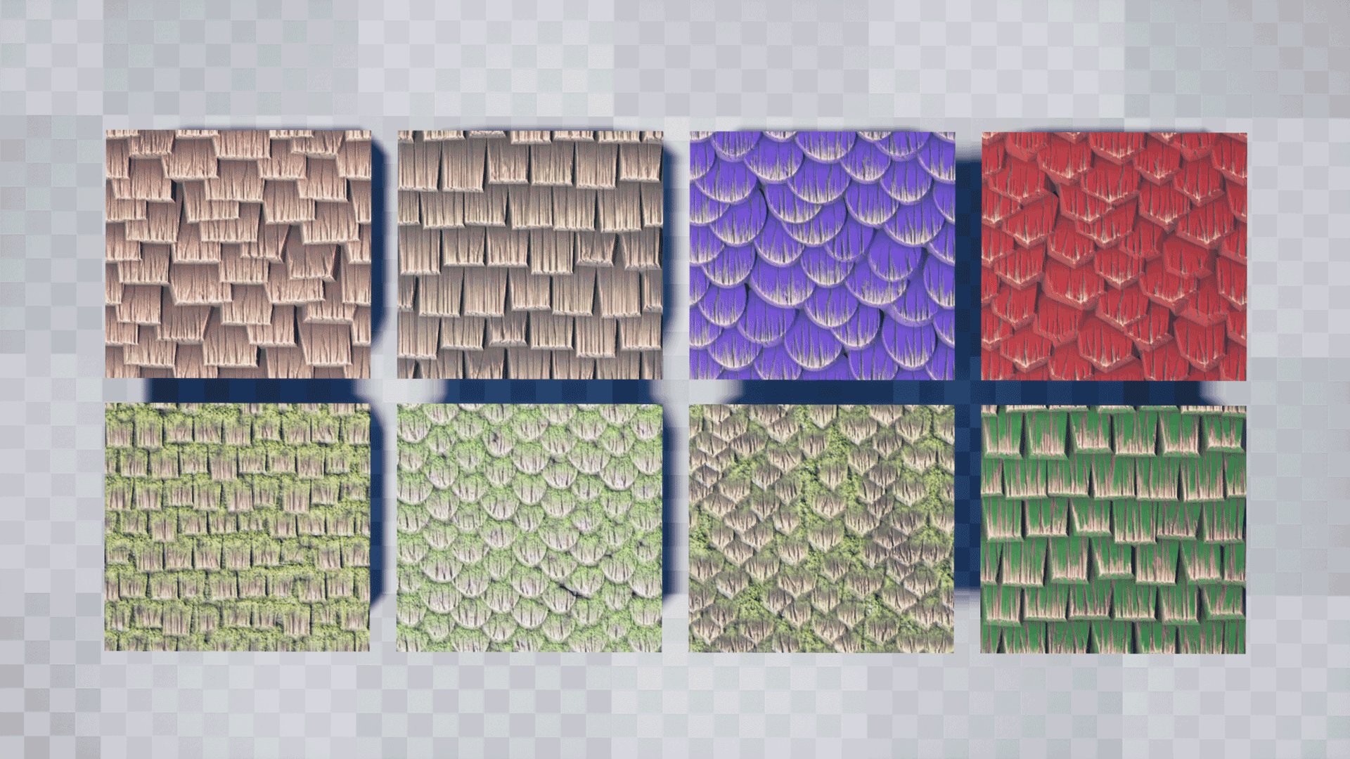 Stylized Wood Shingles Substance Pack by Peter Severud in