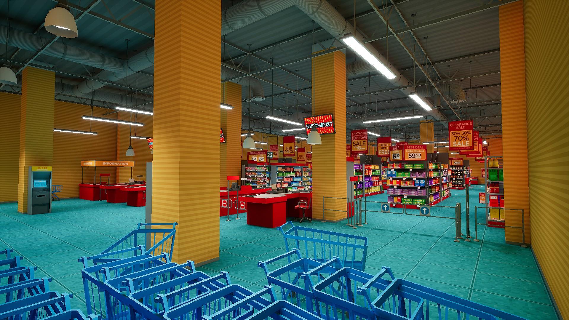 Supermarket interior by daniil demchenko in environments for Modern house fortnite