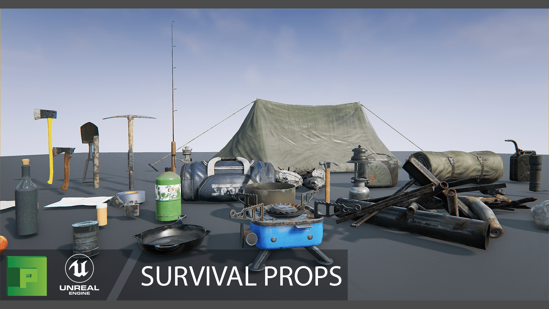 Survival Props by PolyPixel in Props - UE4 Marketplace