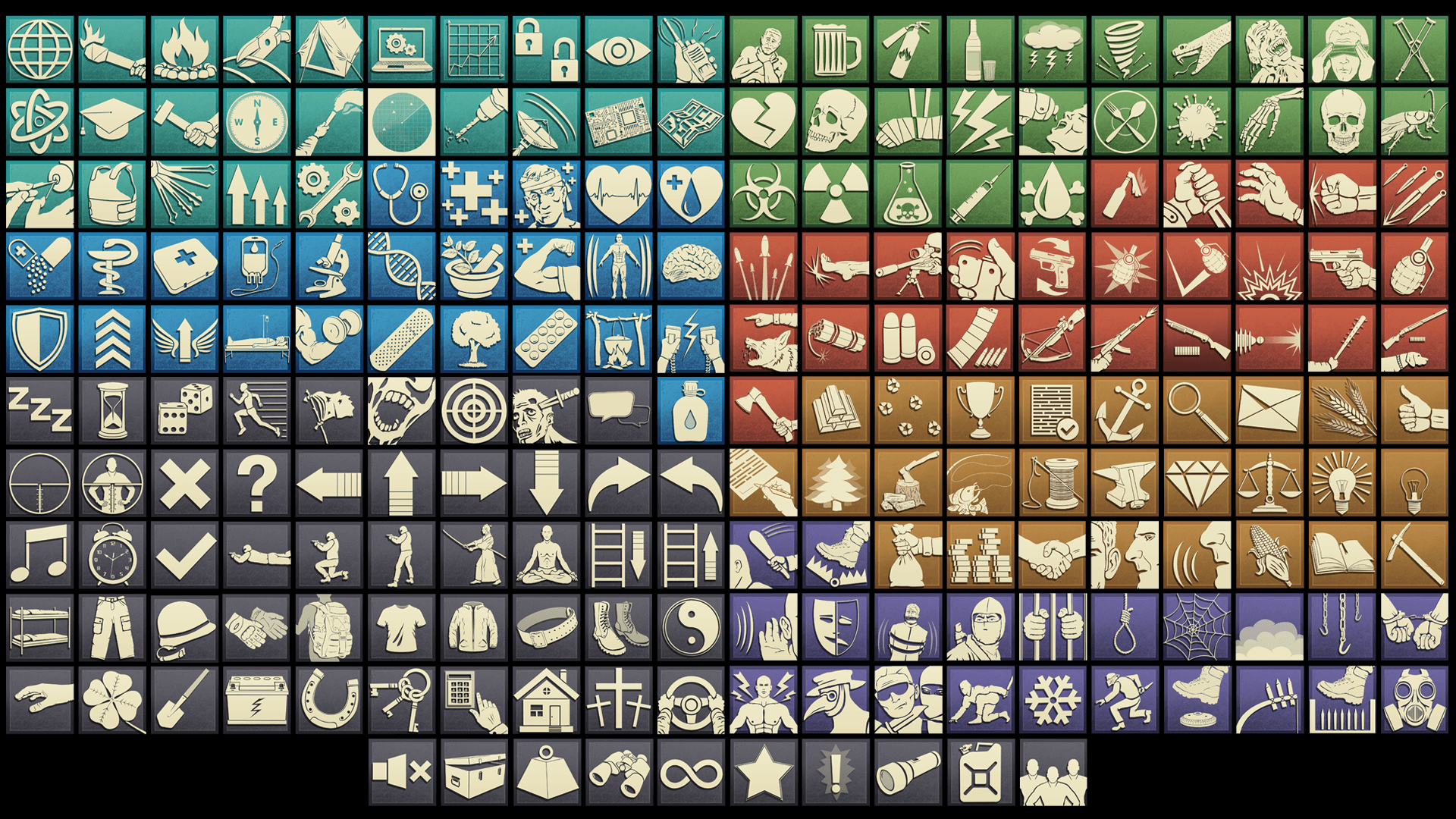 Survival Skill Icons by REXARD in 2D Assets - UE4 Marketplace